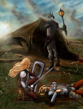Eowyn VS Nazgul by shaotemp