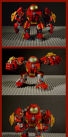 Lego Iron Man Mark 44 Hulkbuster armor 'Veronica' by SteamNewt
