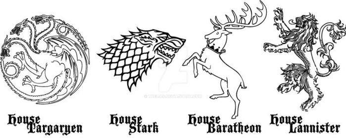 Game of Thrones: House Sigil 1 by taeliac