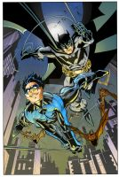 Nightwing and Batman by Scott McDaniel - Colors by Andre-VAZ