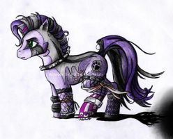 Goth Pony by gothicwolfcorpse