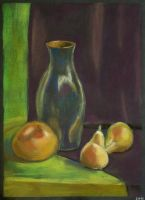Still life with vase and pears by Cunami-in-october