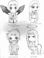 Four Nightwind Chibis by Morgalahan