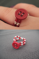 Red Button Ring by sampdesigns