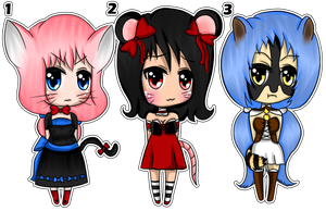 Kemonomimi Female Adoptables - CLOSED by seashellskeeper