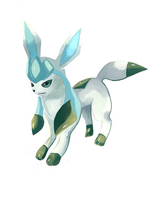 Glaceon by LizardonEievui13