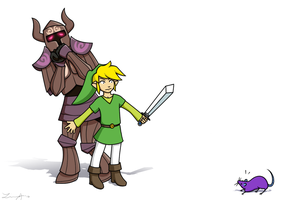 Link, the Great Protector by FlykyrSkysong