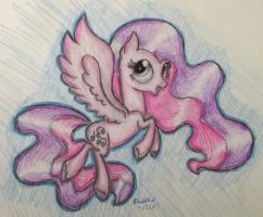 Pink and Purple Pony by flufffur