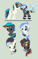 Zapp X Black Heart Foals - CLOSED by iPandadopts