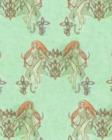 Celtic Girl Textile by temiel