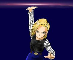 Coloured Android 18 by kingvegito