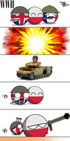 Countryballs 'Polandball': WWII by animatedjerk