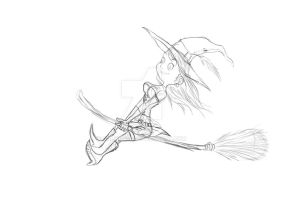 Little Witch SKETCH by Galhardo