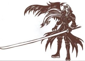 Sephiroth from FFVII Papercut by usagisailormoon20