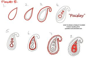 How to draw Paisley Flower 05 Paisley by Quaddles-Roost