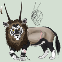 Gemsbok Lion by Azureith