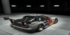 Mad Mike's Red Bull Mazda RX-7 Rear by CarlostheBat36
