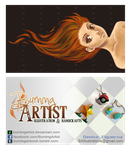 Business card: Take 1 by BurningArtist