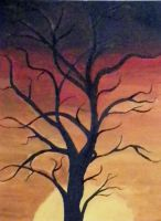 Tree in the Sunset by GretchElise