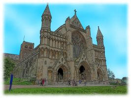 St Albans Cathedral Front View by he4rty