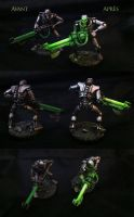 Necron tabletop by Dr-Flink