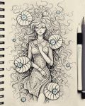 Under the water (traditional) by natalico