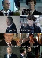 Sherlock vs. Moriarty (My choice for James) by Omnipotrent