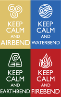 Keep Calm Fandom Badges: AtLA - DISCONTINUED by HylianJess