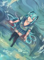 Hatsune Miku -- Deep Sea by Nyanfood