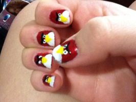 Angry Birds Nails by melvin-the-dinosaur