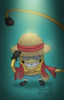 Minion Luffy by etubi92