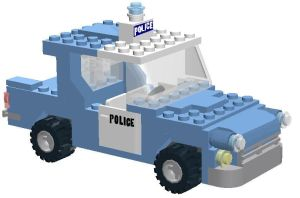 Lego Ford Anglia police car by YanamationPictures