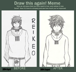 OC Shiki - Meme: Before and After by Reikeo