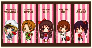 K-ON - Listen Version Bookmark by blackeyebags