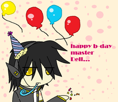 happy b-day master Dell ...... by ASK-Rei-Kagene