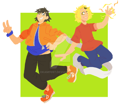 Kaminari And Sero by Okami1997