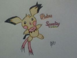 Pokemon oc sparky the pichu by The-P3nguin