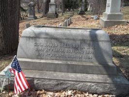 Civil War Grave with carved stone sword Spring For by seaglasshunter
