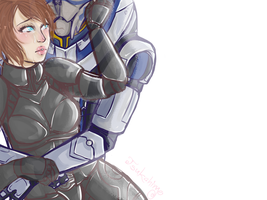 COM-Andromeda and Garrus by Tsukahime