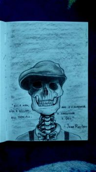 sketchbook - fancy skull by Tsenov