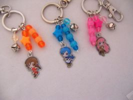 Vocaloid Glow-In-The-Dark Keychains by ShishoDesigns