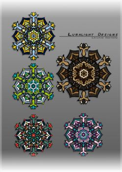 Mandala Ornaments by Lunalight
