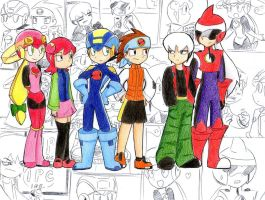 ick 25 megaman exe style by ick25