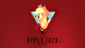 Applejack with Socks - Wallpaper [1920x1080] by Nakan0i