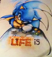 Life is just a game you play - Colour pencil WIP by MissTangshan95