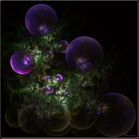 Bubbles and Green by Brigitte-Fredensborg