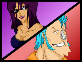 Franky and Robin by thekingofqueens25