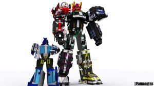 Super Train Megazord 3D and Liner boy 3D by Pamansyns
