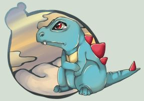 Totodile by CoffeeChicken