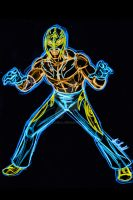 rey mysterio neon by AlanSchell